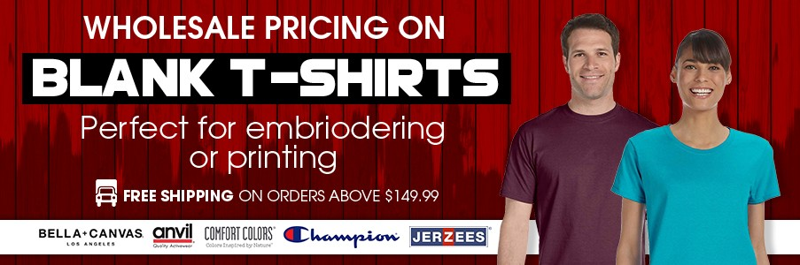 Wholesale pricing on blank tshirts