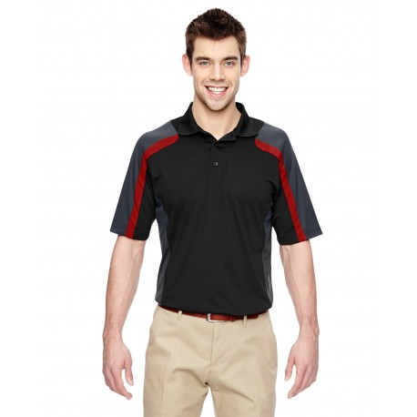 85119 Extreme 85119 Men's Eperformance Strike Colorblock Snag Protection Polo BLK/CL RED 874