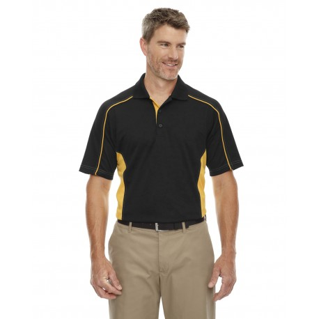 85113T Extreme 85113T Men's Tall Eperformance Fuse Snag Protection Plus Colorblock Polo BLK/CMP GLD 464
