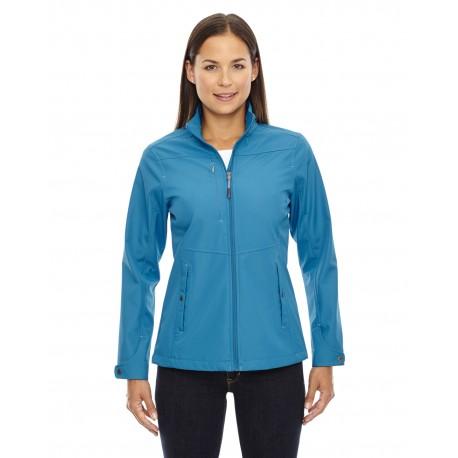 78212 North End 78212 Ladies' Forecast Three-Layer Light Bonded Travel Soft Shell Jacket BLUE ASH 488