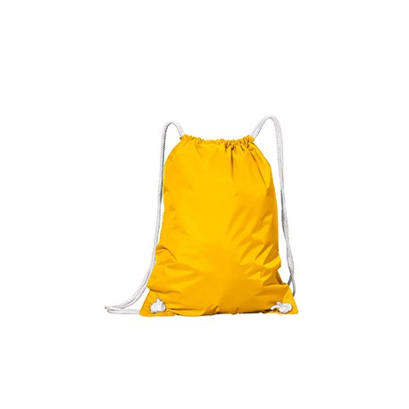 8887 Liberty Bags 8887 White Drawstring Backpack BRIGHT YELLOW
