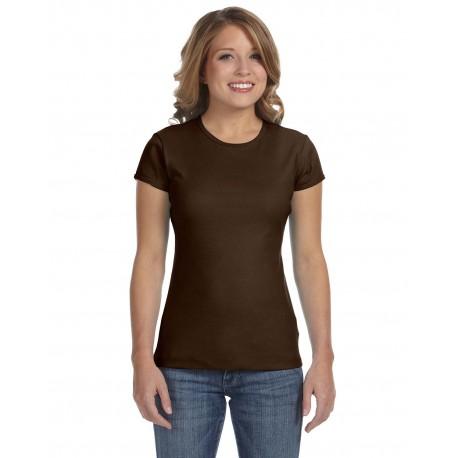 1001 Bella + Canvas 1001 Ladies' Baby Rib Short-Sleeve T-Shirt BROWN