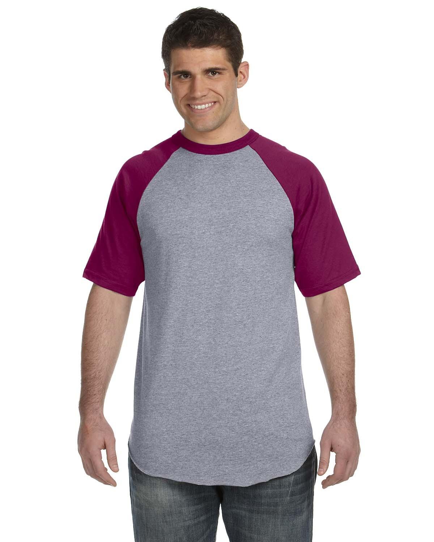 423 Augusta Sportswear ATH HTHR/MAROON