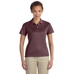 Devon & Jones DG210W Ladies' Pima-Tech Jet Pique Heather Polo