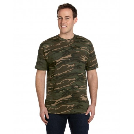 939 Anvil 939 Midweight Camouflage T-Shirt CAMOUFLAGE GREEN