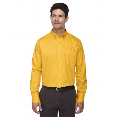 88193 Core 365 88193 Men's Operate Long-Sleeve Twill Shirt CAMPUS GOLD 444