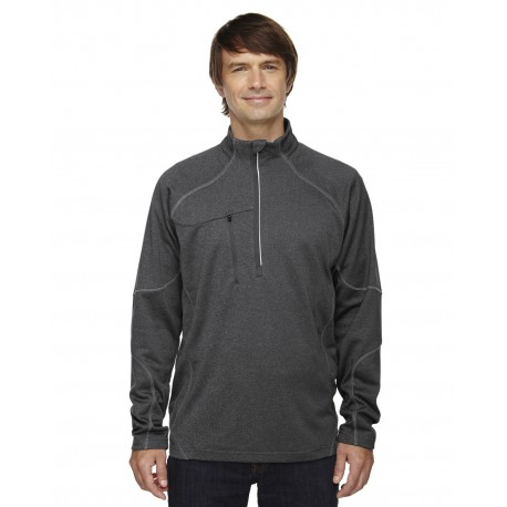 88175 North End 88175 Adult Catalyst Performance Fleece Quarter-Zip CARBN HEATH 452