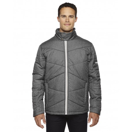 88698 North End 88698 Men's Avant Tech Melange Insulated Jacket with Heat Reflect Technology CARBN HEATH 452