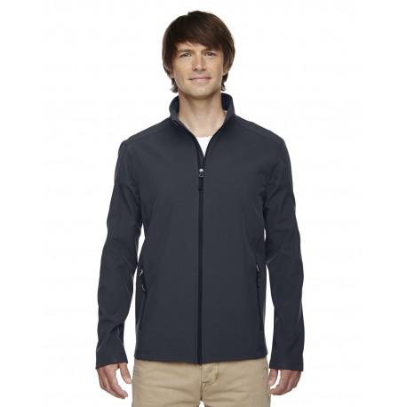 88184 Core 365 88184 Men's Cruise Two-Layer Fleece Bonded Soft Shell Jacket CARBON 456