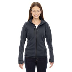 North End 78681 Ladies' Pulse Textured Bonded Fleece Jacket with Print