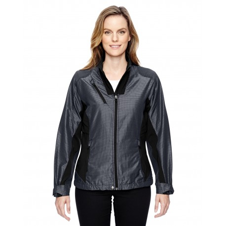 78807 North End 78807 Ladies' Aero Interactive Two-Tone Lightweight Jacket CARBON 456