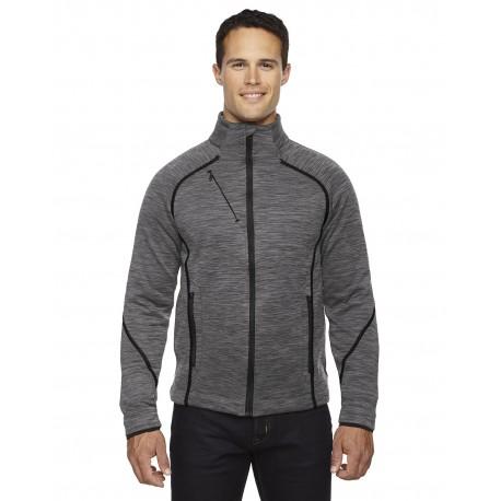 88697 North End 88697 Men's Flux Melange Bonded Fleece Jacket CARBON/BLK 456