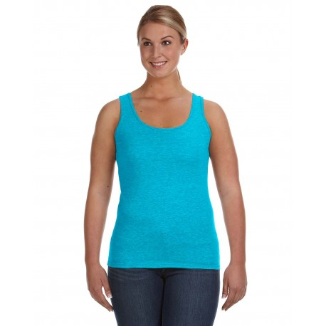 882L Anvil 882L Ladies' Lightweight Tank CARIBBEAN BLUE