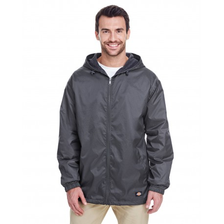 33237 Dickies 33237 Men's Fleece-Lined Hooded Nylon Jacket CHARCOAL