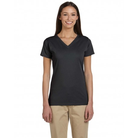 EC3052 Econscious EC3052 Ladies' 4.4 oz., 100% Organic Cotton Short-Sleeve V-Neck T-Shirt CHARCOAL