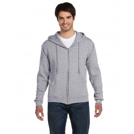 82230 Fruit of the Loom 82230 Adult 12 oz. Supercotton Full-Zip Hood ATHLETIC HEATHER