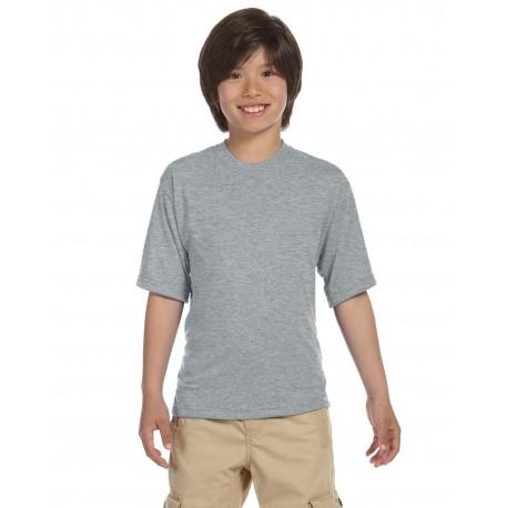 21B Jerzees 21B Youth 5.3 oz. DRI-POWER SPORT T-Shirt ATHLETIC HEATHER