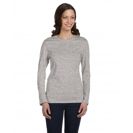 B6500 Bella + Canvas B6500 Ladies' Jersey Long-Sleeve T-Shirt ATHLETIC HEATHER