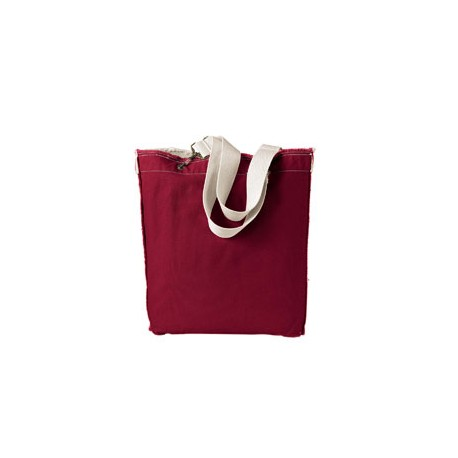 1906 Authentic Pigment 1906 14 oz. Direct-Dyed Raw-Edge Tote CHILI