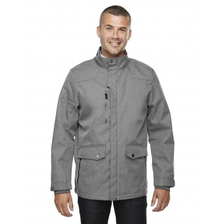 88672 North End 88672 Men's Uptown Three-Layer Light Bonded City Textured Soft Shell Jacket CITY GREY 458