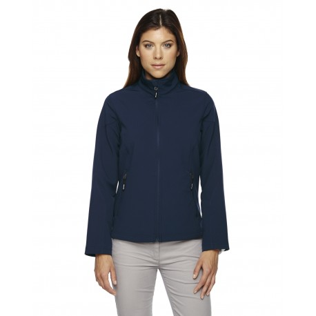 78184 Core 365 78184 Ladies' Cruise Two-Layer Fleece Bonded Soft Shell Jacket CLASSIC NAVY 849