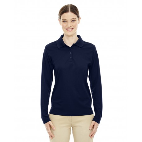 78192 Core 365 78192 Ladies' Pinnacle Performance Long-Sleeve Pique Polo CLASSIC NAVY 849