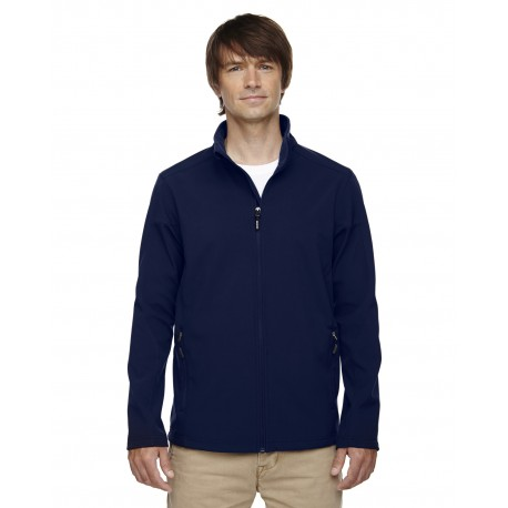 88184T Core 365 88184T Men's Tall Cruise Two-Layer Fleece Bonded Soft Shell Jacket CLASSIC NAVY 849
