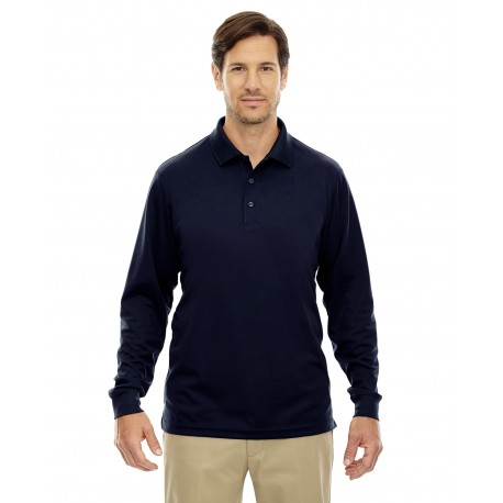88192T Core 365 88192T Men's Tall Pinnacle Performance Long-Sleeve Pique Polo CLASSIC NAVY 849