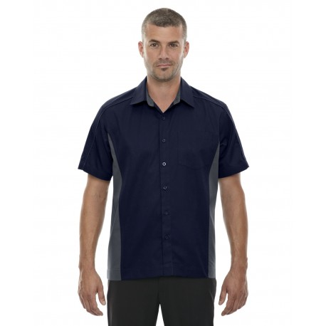 87042T North End 87042T Men's Tall Fuse Colorblock Twill Shirt CLASSIC NAVY 849