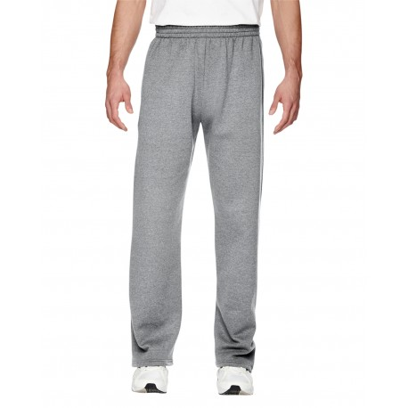 SF74R Fruit of the Loom SF74R Adult 7.2 oz. SofSpun Open-Bottom Pocket Sweatpants ATHLETIC HEATHER