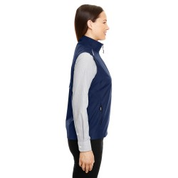 Harriton M500W Ladies Easy Blend Long-Sleeve Twill Shirt with Stain-Release