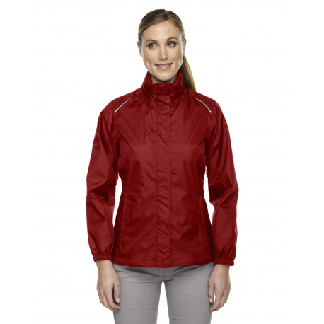 78185 Core 365 78185 Ladies' Climate Seam-Sealed Lightweight Variegated Ripstop Jacket CLASSIC RED 850