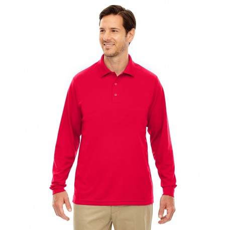 88192 Core 365 88192 Men's Pinnacle Performance Long-Sleeve Pique Polo CLASSIC RED 850