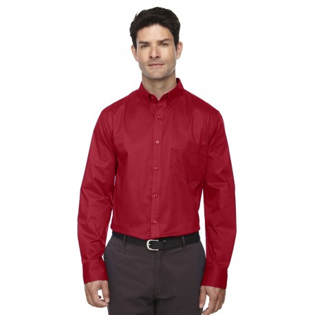 88193 Core 365 88193 Men's Operate Long-Sleeve Twill Shirt CLASSIC RED 850