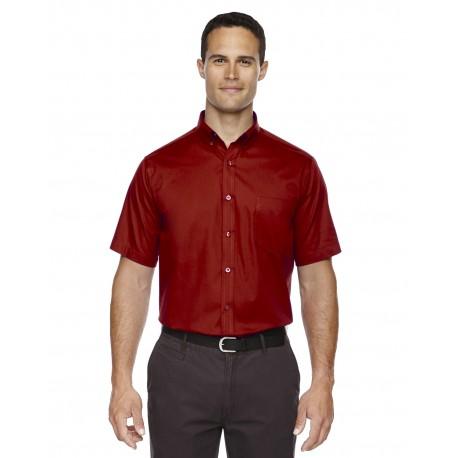 88194 Core 365 88194 Men's Optimum Short-Sleeve Twill Shirt CLASSIC RED 850