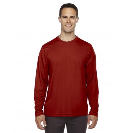 88199 Core 365 88199 Men's Agility Performance Long-Sleeve Pique Crewneck CLASSIC RED 850
