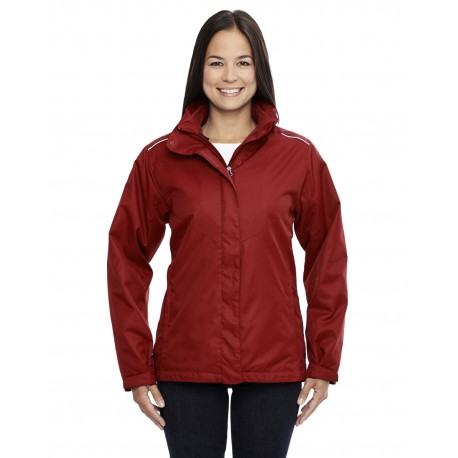 78205 Core 365 78205 Ladies' Region 3-in-1 Jacket with Fleece Liner CLASSIC RED 850