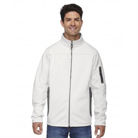 88138 North End 88138 Men's Three-Layer Fleece Bonded Soft Shell Technical Jacket CRYSTL QRTZ 695