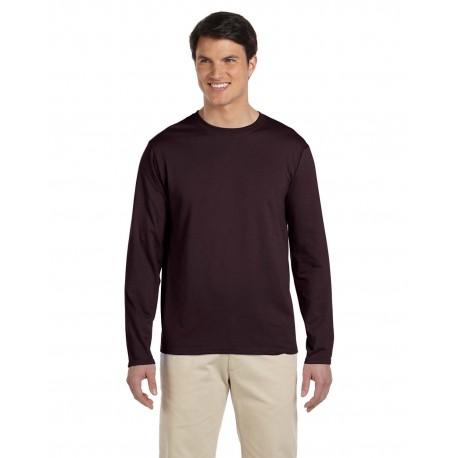G644 Gildan G644 Adult Softstyle 4.5 oz. Long-Sleeve T-Shirt DARK CHOCOLATE