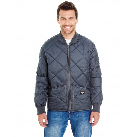 61242 Dickies 61242 Unisex Diamond Quilted Nylon Jacket DARK NAVY