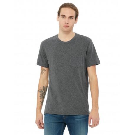 3021 Bella + Canvas 3021 Men's Jersey Short-Sleeve Pocket T-Shirt DEEP HEATHER