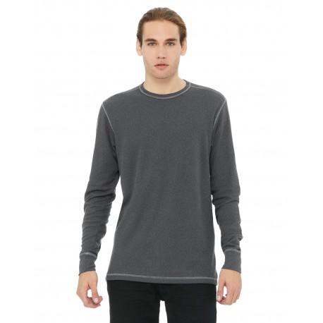 3500 Bella + Canvas 3500 Men's Thermal Long-Sleeve T-Shirt DEEP HTR/DP HTR