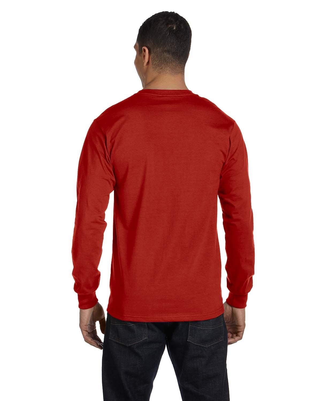 5186 Hanes DEEP RED
