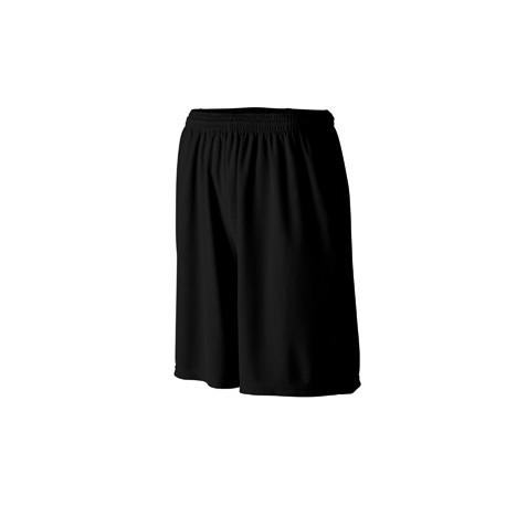 803 Augusta Sportswear 803 Longer Length Wicking Short with Pockets BLACK