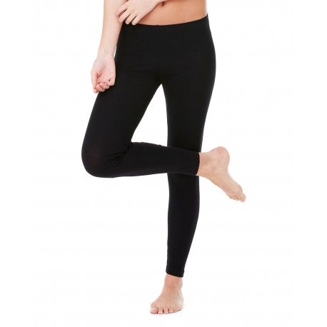 812 Bella + Canvas 812 Ladies' Cotton/Spandex Legging BLACK