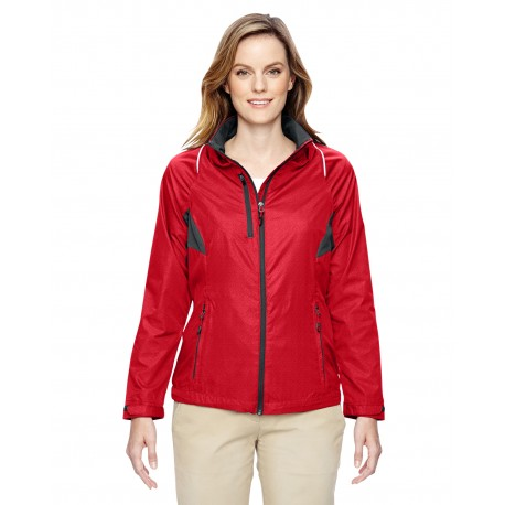 78200 North End 78200 Ladies' Sustain Lightweight Recycled Polyester Dobby Jacket with Print FLAME RED 755