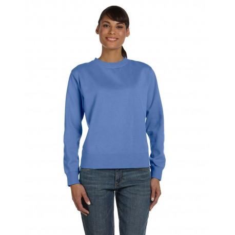 C1596 Comfort Colors C1596 Ladies' Crewneck Sweatshirt FLO BLUE