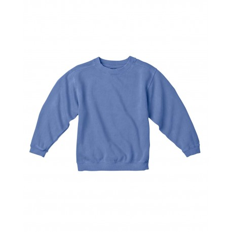 C9755 Comfort Colors C9755 Youth 10 oz. Garment-Dyed Crew Sweatshirt FLO BLUE
