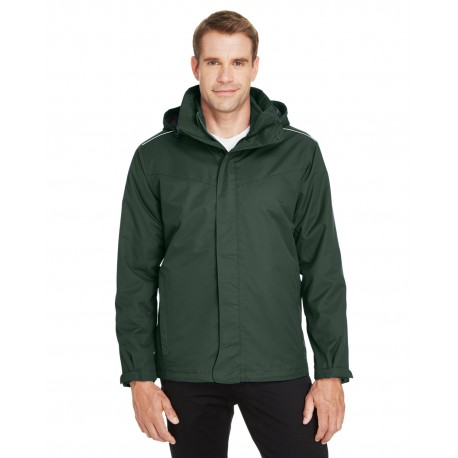 88205 Core 365 88205 Men's Region 3-in-1 Jacket with Fleece Liner FOREST 630