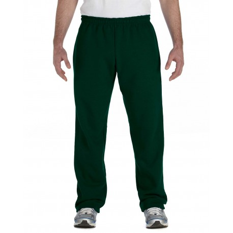 G184 Gildan G184 Adult Heavy Blend Adult 8 oz., 50/50 Open-Bottom Sweatpants FOREST GREEN